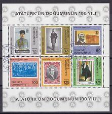 Türkei 1981 gestempelt MiNr. Block 19  100. Geburtstag von Atatürk