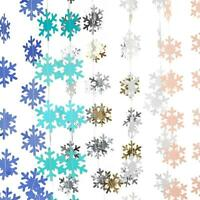 4m Paper Artificial Snowflake Garland Flags Hanging Paper Craft Supplies