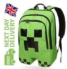 Minecraft Mochila Escolar De Niño Verde Creeper Bolsa deporte resistente al agua