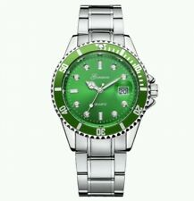 Submariner Homage mens and women's Watch stainless steel and green (Rolex style)
