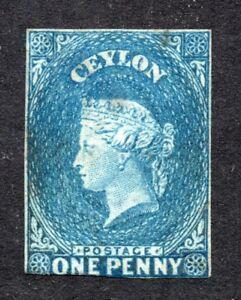 Ceylon. 1857. Queen Victoria. 1 penny stamp. Mint. Watermark STAR.  SG No. 2