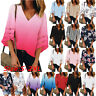 UK Womens Short Sleeve Tops Summer Beach Ladies Casual Loose Blouse Top T Shirts