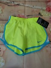 NWT NIKE Girls Athletic Shorts Lined-6X, Volt/White/Sky Blue new