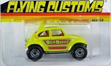 Hot Wheels 2012 Volkswagen Baja Beetle Flying Customs #X8200 Yellow 3+ 1:64 HTF