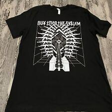 "NWOT ""Buy Into The System"" Conspiracy Illuminati Guns Graphic T-Shirt   L"