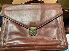 Arthur & Aston Hip Work Briefcase Brown Cool Artist Portfolio Quality Leather
