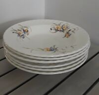 "NEW Set of 6 Aynsley Just Orchids Soup Plates 8"" Embossed Fine English China"