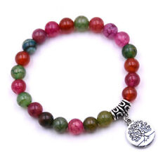 Nature Stone Beads Bracelet Women Men Tree of Life Bracelets Handmade Jewelry