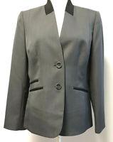 Preston & York Suit Jacket / Blazer - Charcoal Grey & Black - Size 10