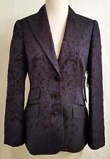 NWT $478 BADGLEY MISCHKA BROCADED BLUE BLAZER/JACKET SIZE 8