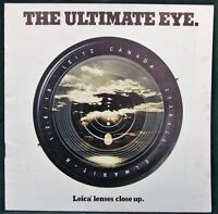 Leitz Leica Camera Lenses - orig 1977 promotional booklet