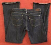 Levi's Demi Curve Flare Stretch Denim Blue Jeans Women's Size 30x32