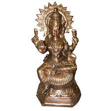 Figura color bronce Lakshmi 55cm Hinduismo diosa hindú religión India decoración