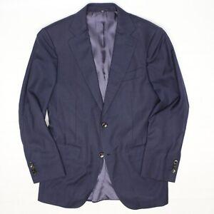 SuitSupply Mens Sport Coat 36R Navy Blue Subtle Glen Plaid Super 110 Wool Jacket