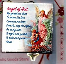 Guardian Angel wall or shelf art ceramic tile from Italy