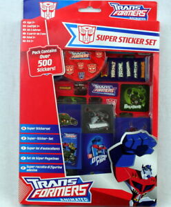 2 Packung Transformers Super Sticker Set  je Pack mehr als 500 Stickers=1000 ...