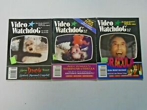 Video Watchdog Dracula Lot 3 Different Average 6.0 FN (1993-1998)