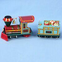 Hallmark Lot of 2 Yuletide Central Train Ornament Locomotive Tender Original Box