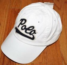 NWT Mens Polo Ralph Lauren Baseball Hat Cap Pony Logo Adjustable Strap White *W7