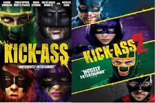 Kick-Ass + Kick Ass 2 Double Feature (DVD, WS, 2010) NEW FREE SHIP