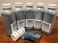 (160g x 5) Toner Refill for Ricoh Aficio SP3400 , 3410, 3500N, 3510SF + 5 Chip