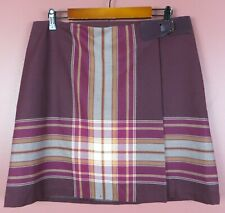 SK15205- TOMMY HILFIGER Women's Polyester Rayon Wrap A-Line Skirt Striped 12