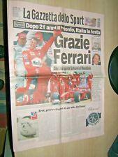 LA GAZZETTA DELLO SPORT=9/10/2000=FERRARI CAMPIONE DEL MONDO DOPO 21 ANNI