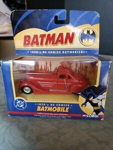 1930's Corgi Red Batmobile DC Comics Metal Die Cast 1:43 New in Packaging