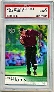 2001 Upper Deck Golf Tiger Woods Rookie Rc #1 PSA 9 - QTY AVAIL