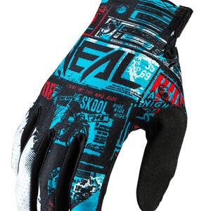ONeal Matrix Ride MX Black Blue Enduro Motocross Gloves