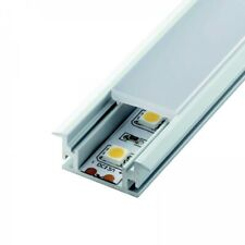 Alupona LED Aluprofil OTIS Boden Einbau Übergangsleiste flach opal Licht Stripe