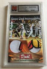 Rare ALBERT PUJOLS 1/1 Game used worn GU JERSEY 3-color PATCH Cardinal NSA