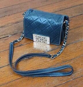 Carolina Herrera Leather Handbag Purse (Blue)