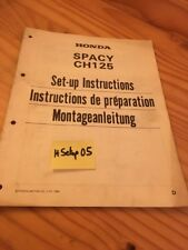 Honda Spacy NH125 Roller Nh 125 D Instruction Preparation Setup Manuell Ed 83
