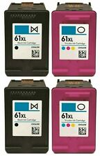 4 pk HP 61 XL Ink Cartridge Combo CH563WN CH564WN Black & Color 61XL
