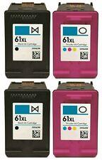 4 pk HP 61 XL Ink Cartridge Combo CH563WN CH564WN Black & Color 61XL