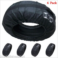 """4x Car SUV Spare Wheel Tyre Tire Protection Storage Bag Carry Tote Cover 13""""-19"""""""