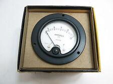 """VINTAGE WESTON NO 476 AMPERES AC RADIO METER GAUGE 3 1/2"""" IN BOX STEAMPUNK n87"""