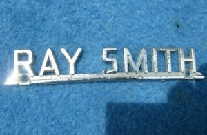 Vintage Original Metal Dealer Nameplate  RAY SMITH