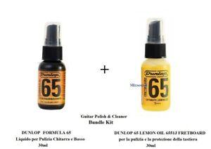 DUNLOP FORMULA 65 +  LEMON OIL 6551J FRETBOARD 30ml per Pulizia Chitarra e Basso