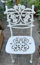 Rare Ancien Salon De Jardin 6 X Chaises Fonte D Aluminium decor vigne