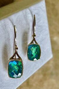 Stunning Filigree Sterling Silver Spinel Pierced Earrings, Marked SAJEN