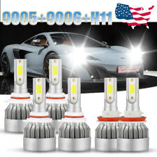 6PCS Combo 9005+9006+H11 LED Headlight Bulbs Kit 6000K High Low Fog For SUBARU
