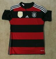 Adidas Team Germany National Team- Youth Large Black Red Stripe