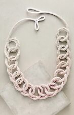 Nwt Pink Ombre Anthropologie Saloukee Loops Necklace
