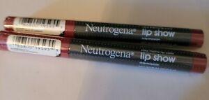 2x Neutrogena Lip Show Silky Matte Lip Color (intermission 05)