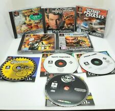 Sony Playstation 1 Games Bundle x9 Action Man Mickey 007 Police Chases Biking