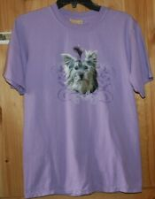 Front Pretty Picture Dog Yorkie Yorkshire Terrier T-Shirt size Small Lot8061