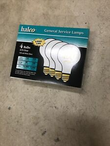 4 PACK Halco 100 Watt A19 Brass Base Frosted Light Bulbs Incandescent FREE SHIP!