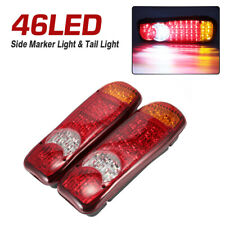 2Pcs 46LED Trailer Truck Van Caravan Stop Rear Tail Indicator Light lamps 12V